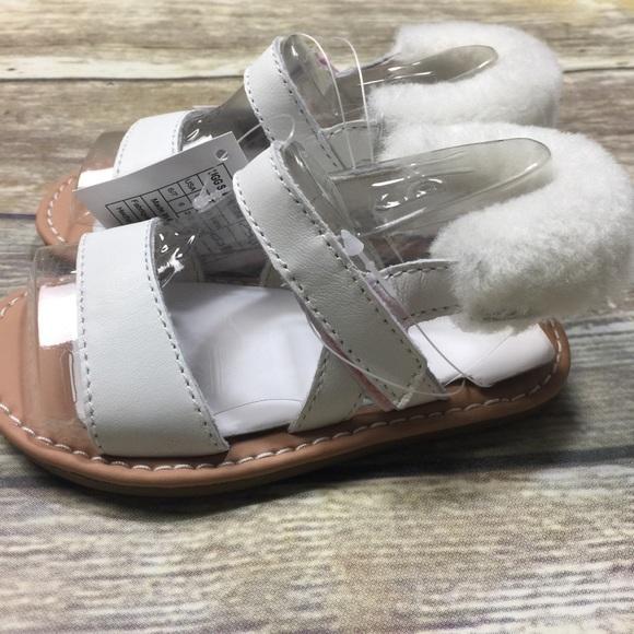 0beaa3d5668 Uggs Dorien White Sandals Sz 6-7 18 24 Months NWT